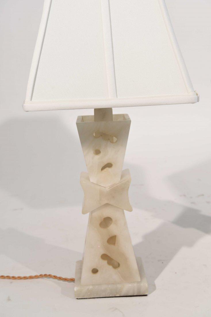 PAIR OF ALABASTER LAMPS - 8