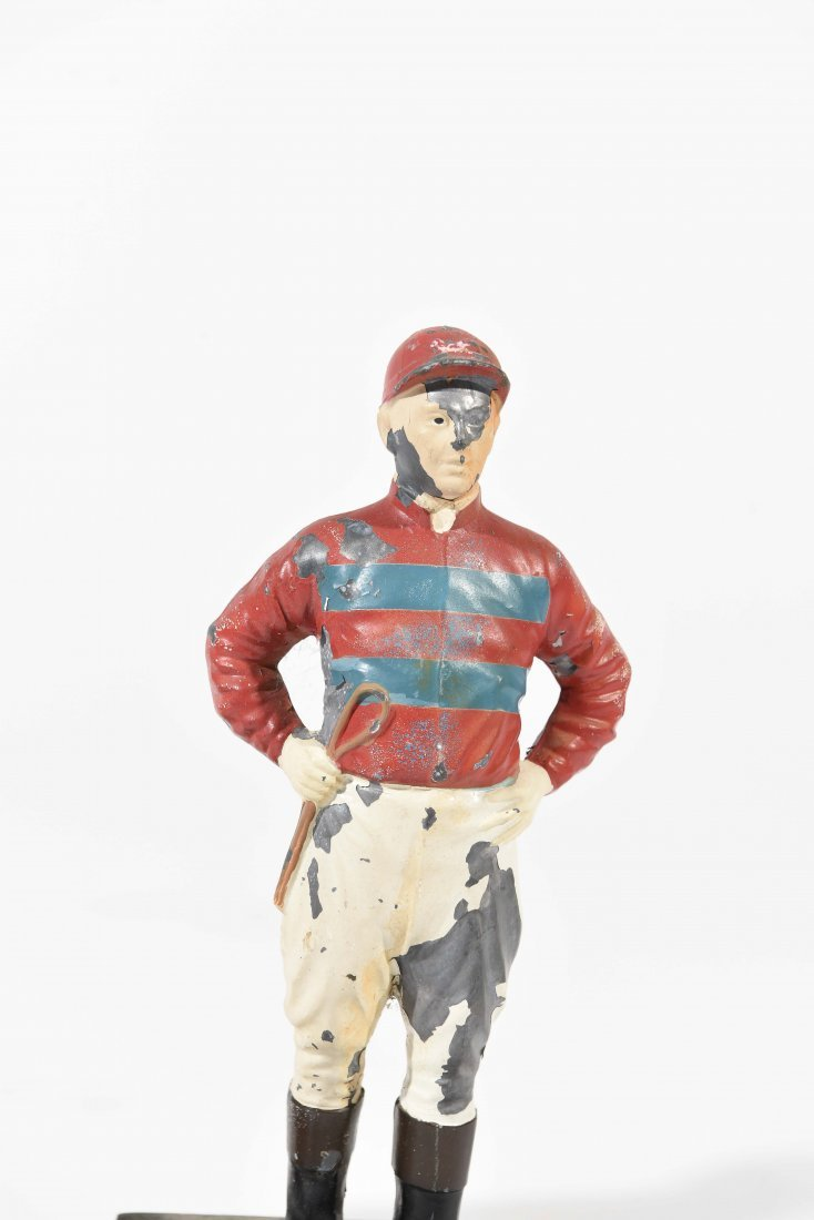 TWO PAINTED METAL JOCKEYS - 3