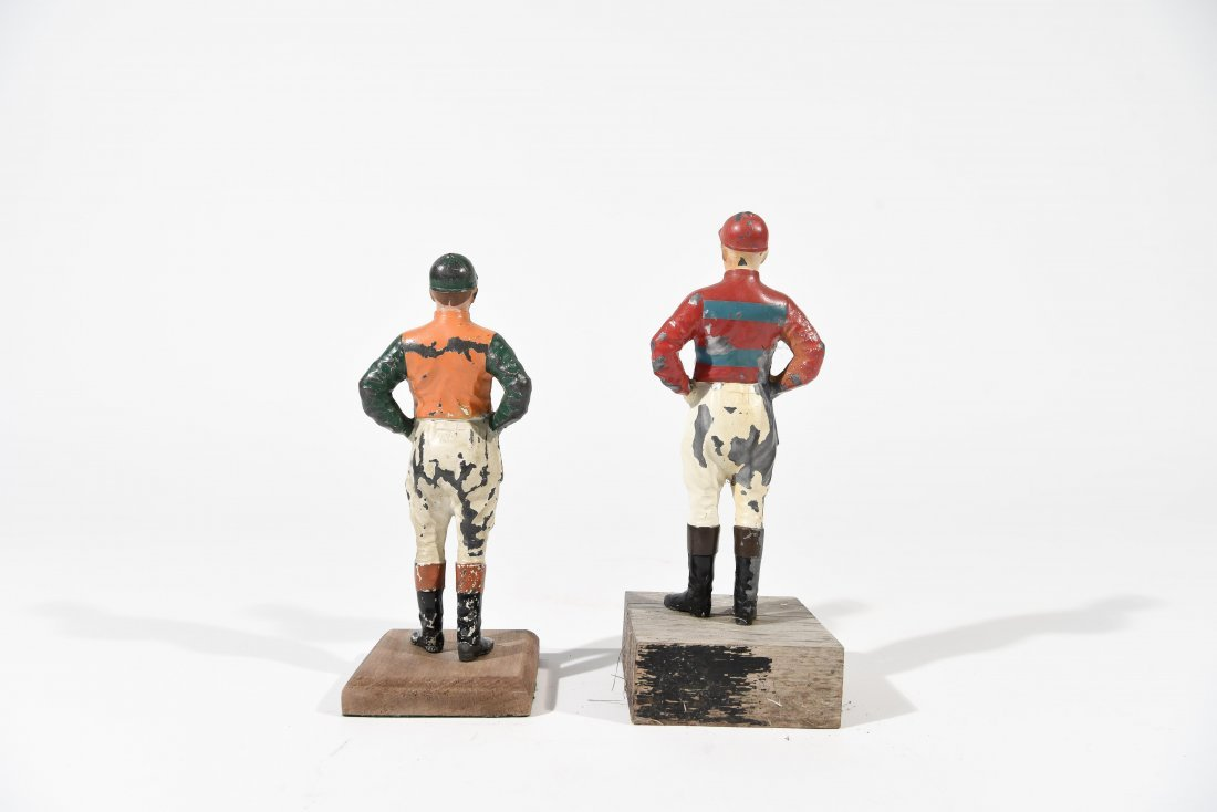 TWO PAINTED METAL JOCKEYS - 6