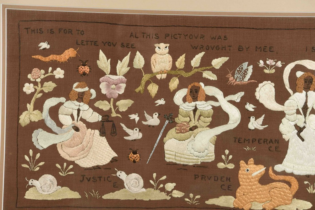 GROUPING OF SAMPLERS & EMBROIDERY - 10