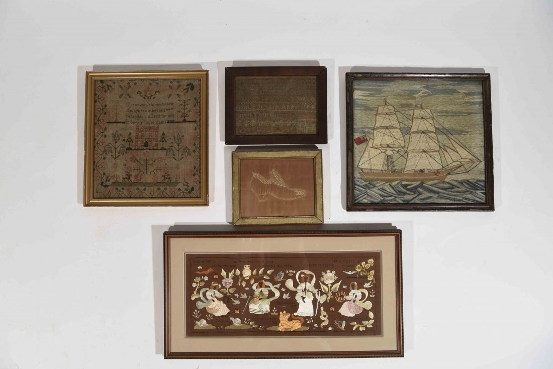 GROUPING OF SAMPLERS & EMBROIDERY - 4