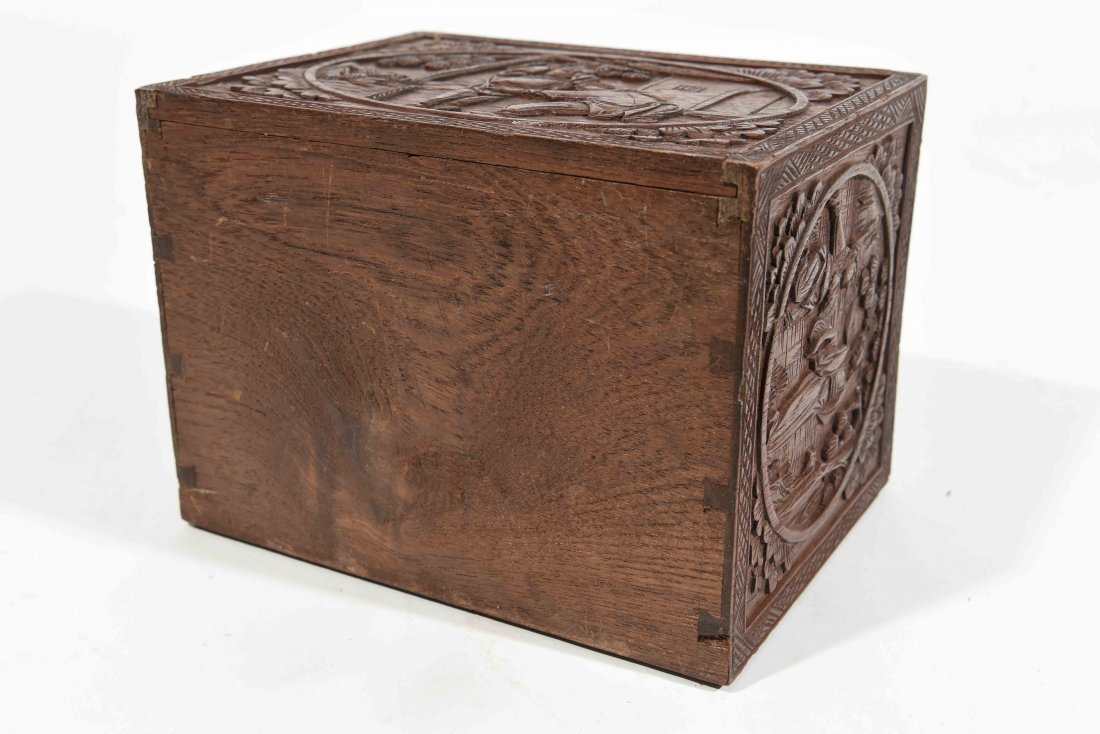 CHINESE CARVED SMALL CHEST OF DRAWERS - 10