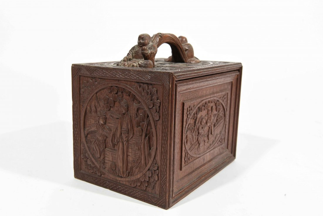 CHINESE CARVED SMALL CHEST OF DRAWERS - 2