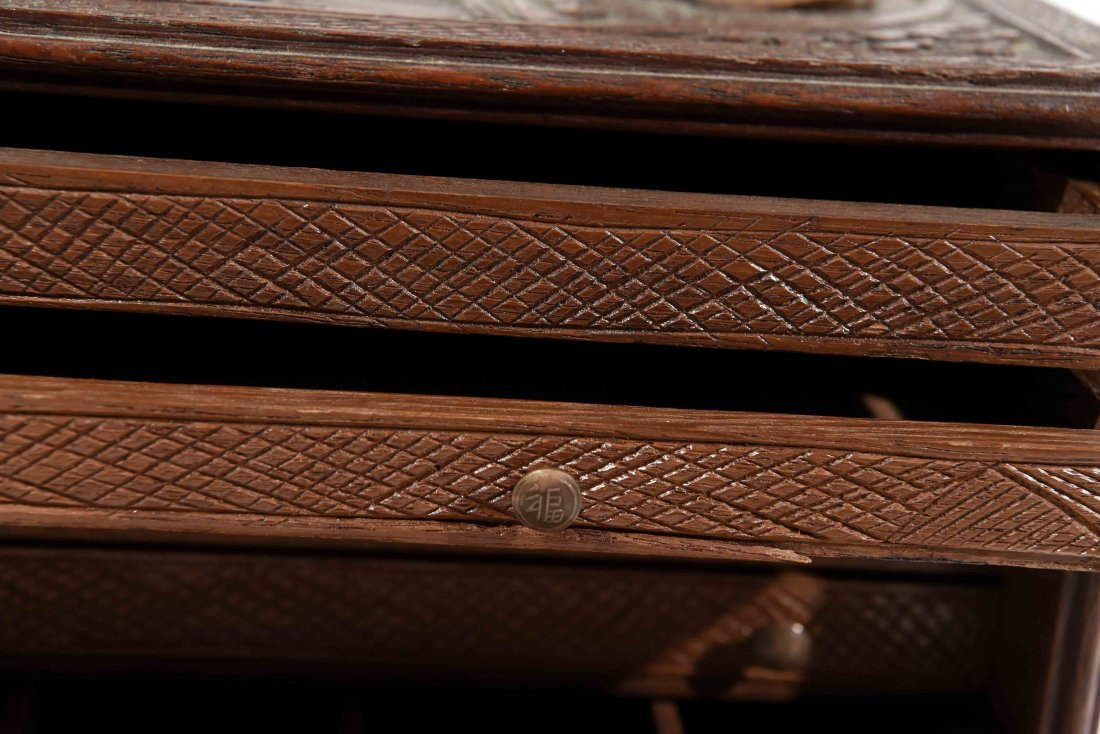 CHINESE CARVED SMALL CHEST OF DRAWERS - 5