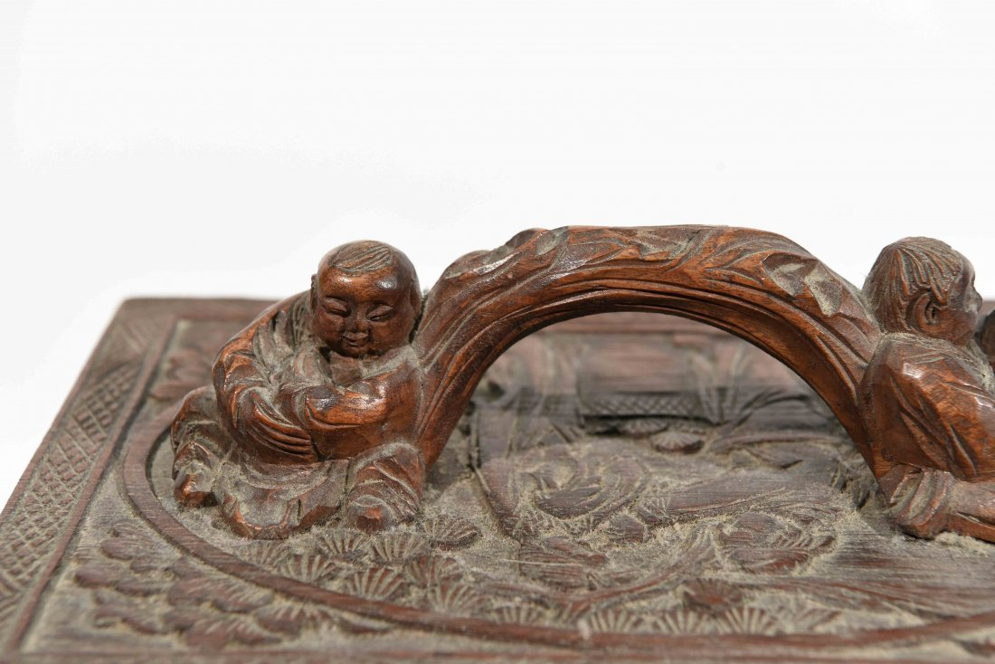 CHINESE CARVED SMALL CHEST OF DRAWERS - 8