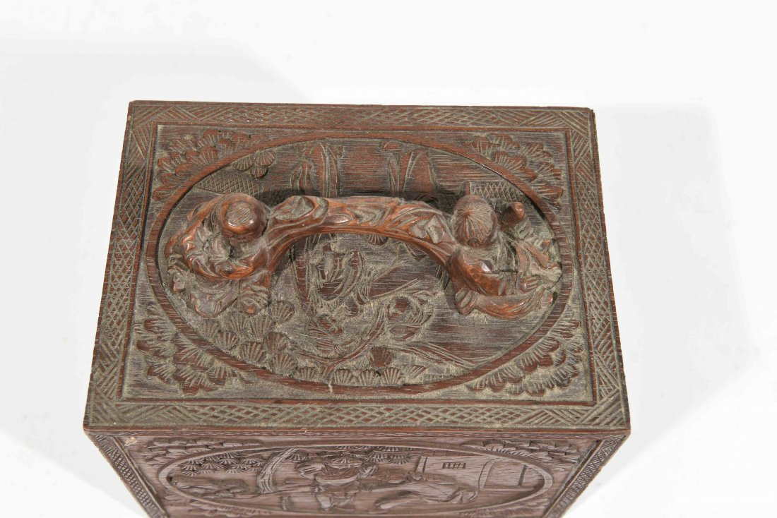 CHINESE CARVED SMALL CHEST OF DRAWERS - 9