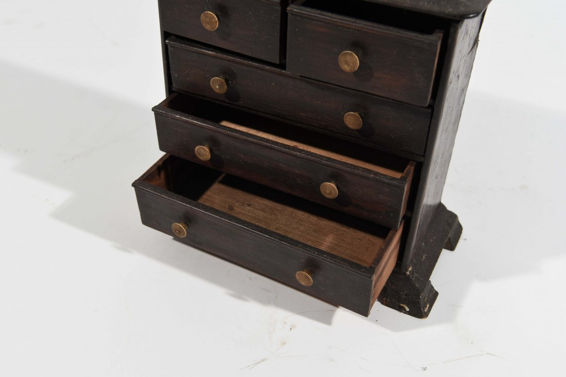 ANTIQUE MINIATURE CHEST OF DRAWERS - 2