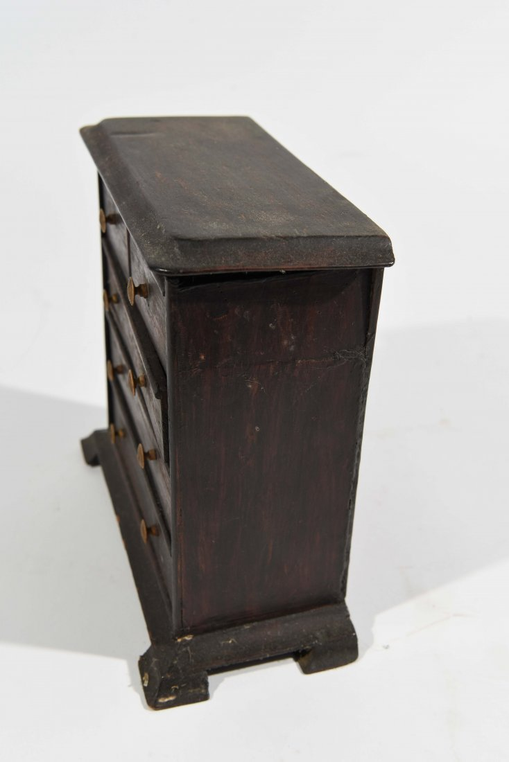 ANTIQUE MINIATURE CHEST OF DRAWERS - 3