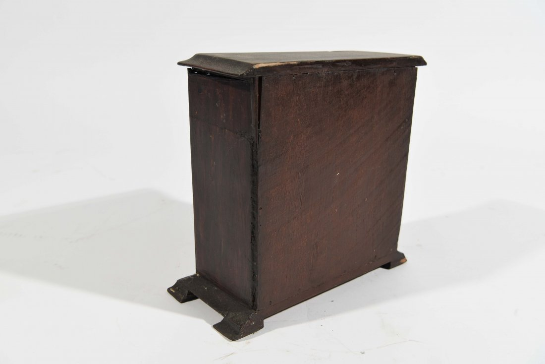 ANTIQUE MINIATURE CHEST OF DRAWERS - 4