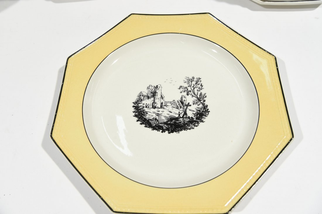 FRENCH PORCELAIN PLATE SET - 6