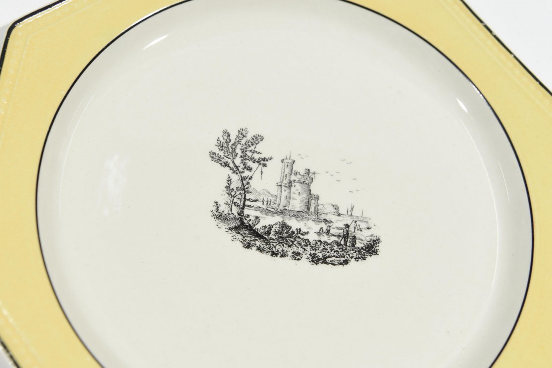 FRENCH PORCELAIN PLATE SET - 9