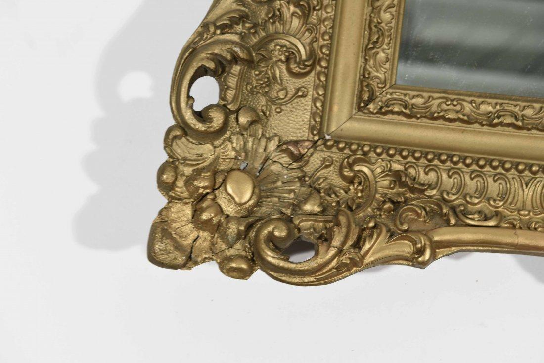 ANTIQUE GOLD FRAMED MIRROR - 4