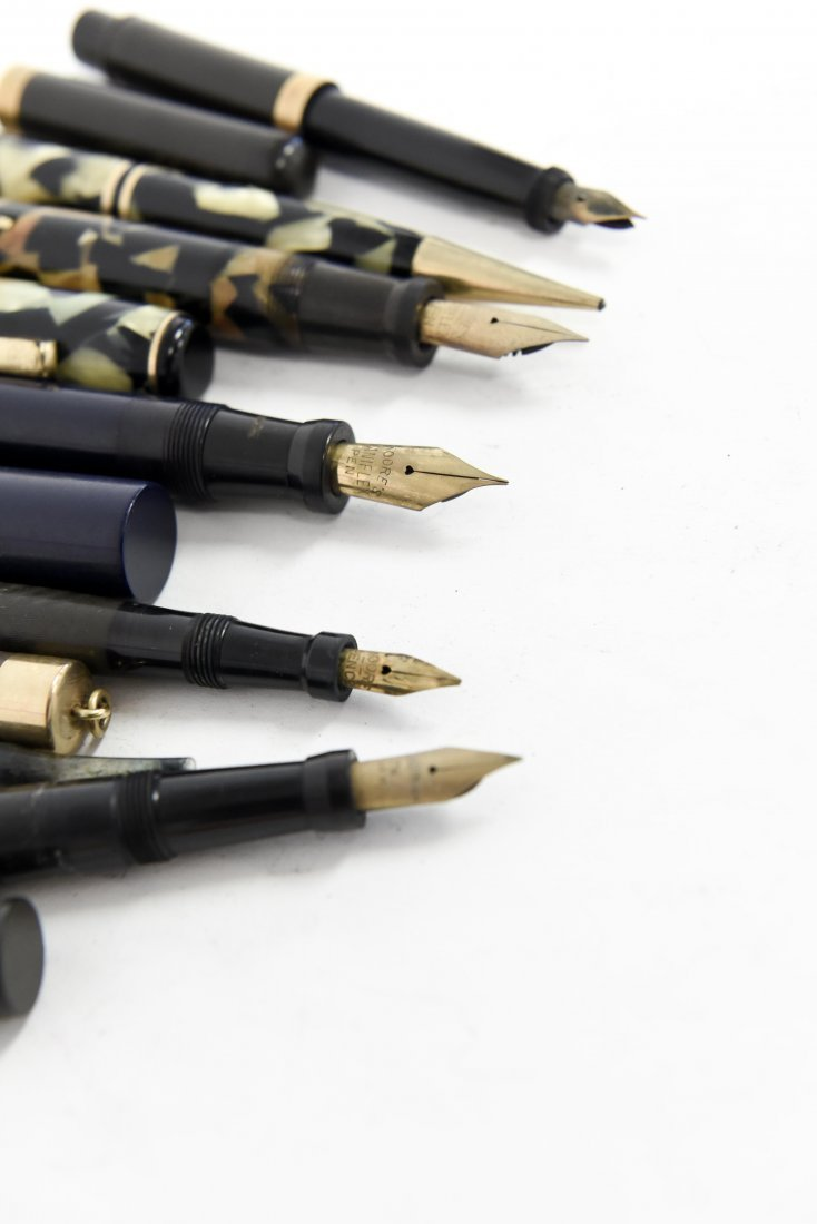 (6) MOORE FOUNTAIN PENS - 8