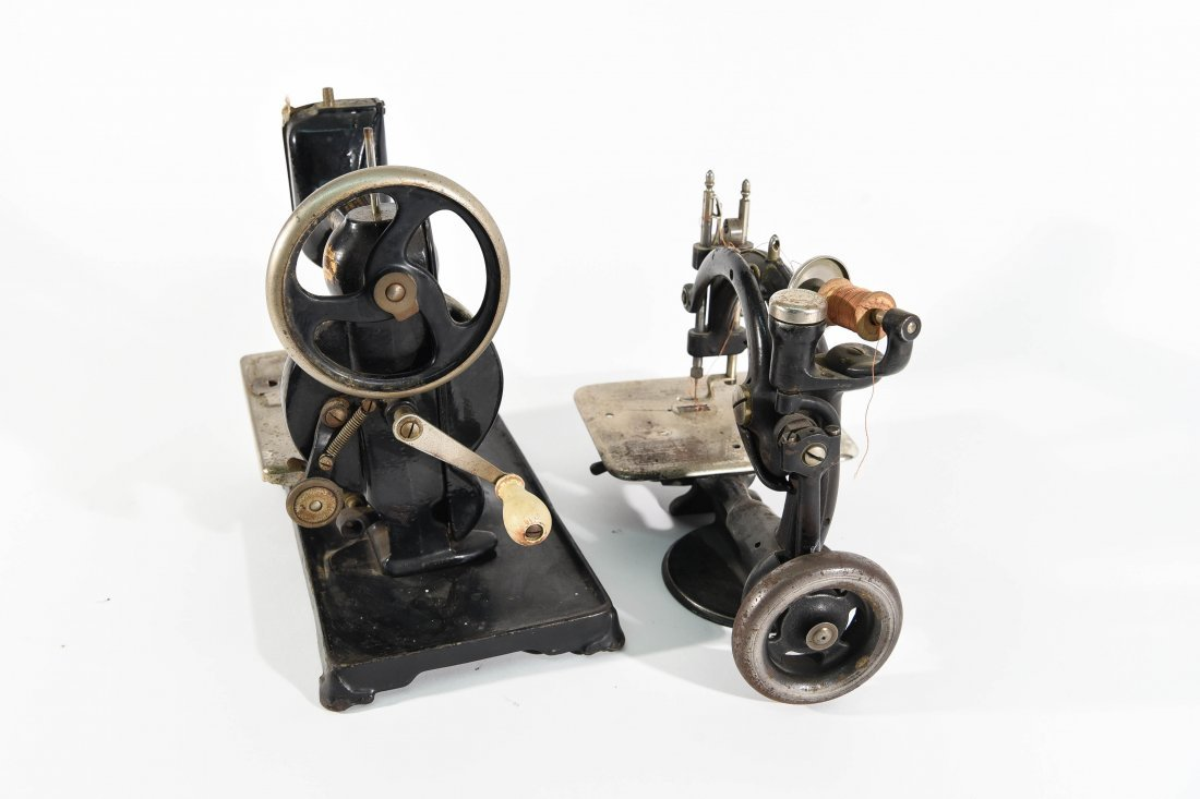 TWO MINIATURE SEWING MACHINES - 10
