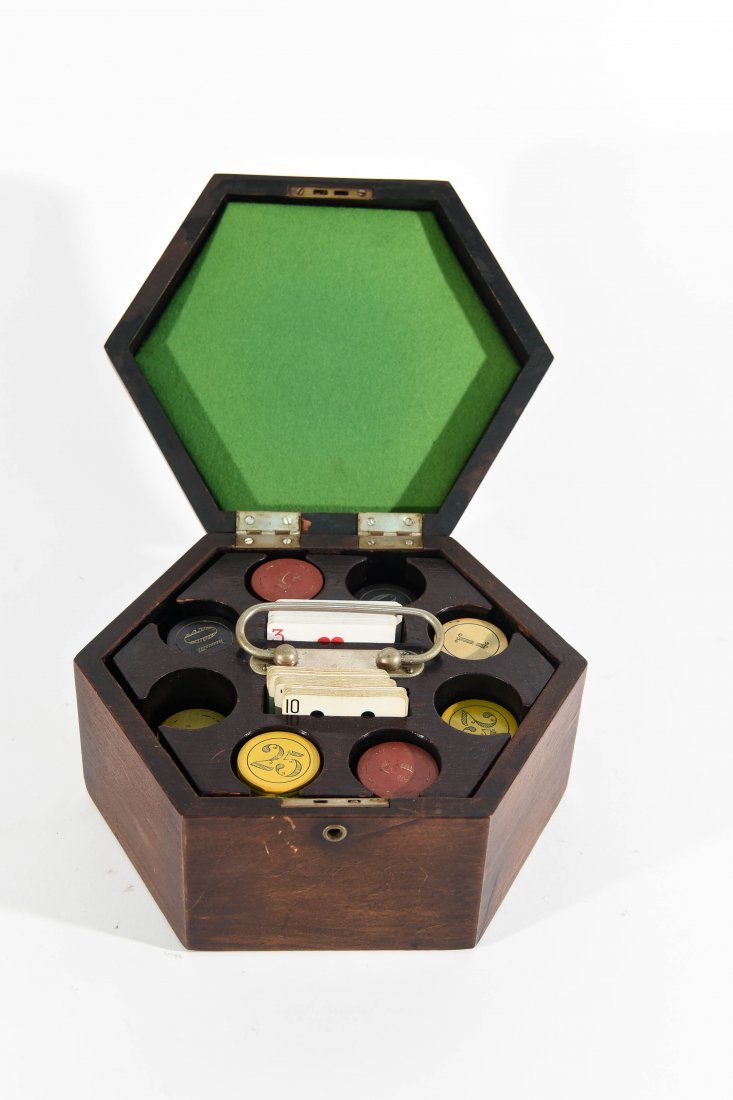 VINTAGE POKER CHIP GAMING SET