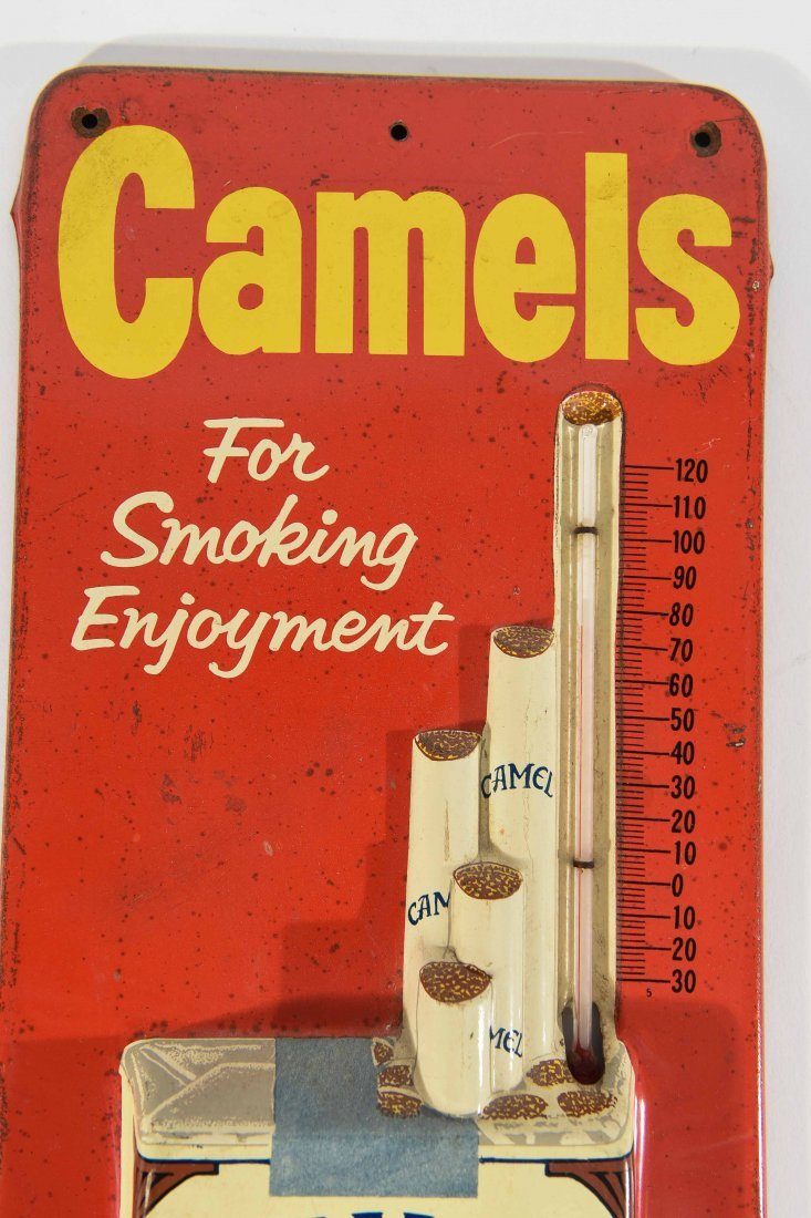 VINTAGE CAMEL AND COCA COLA THERMOMETERS - 6