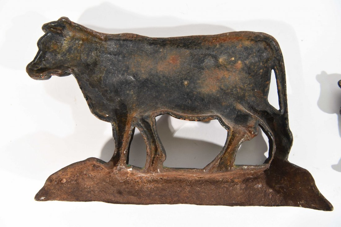 CAST IRON COW AND BULL - 10