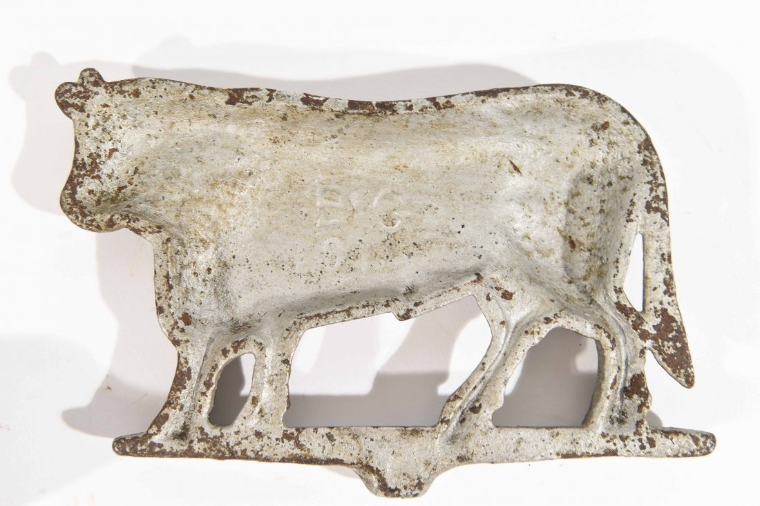 CAST IRON COW AND BULL - 9
