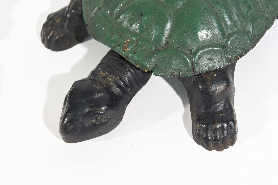 TWO ANTIQUE TURTLE SPITTOONS - 6