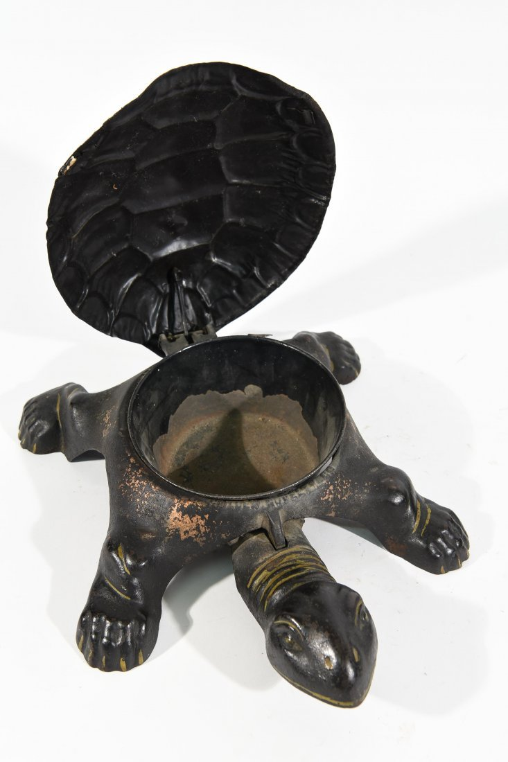 TWO ANTIQUE TURTLE SPITTOONS - 8