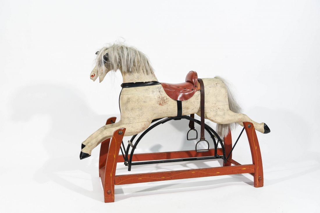 FOLK ART ROCKING HORSE