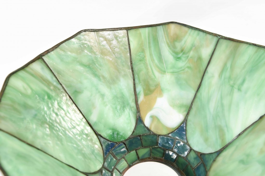STAINED GLASS PANEL LAMP - 8