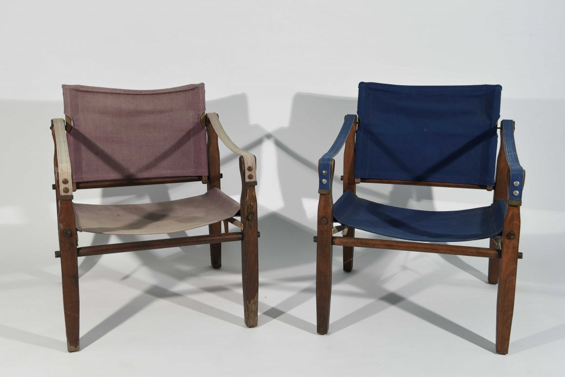 PAIR OF SAFARI STYLE CHAIRS
