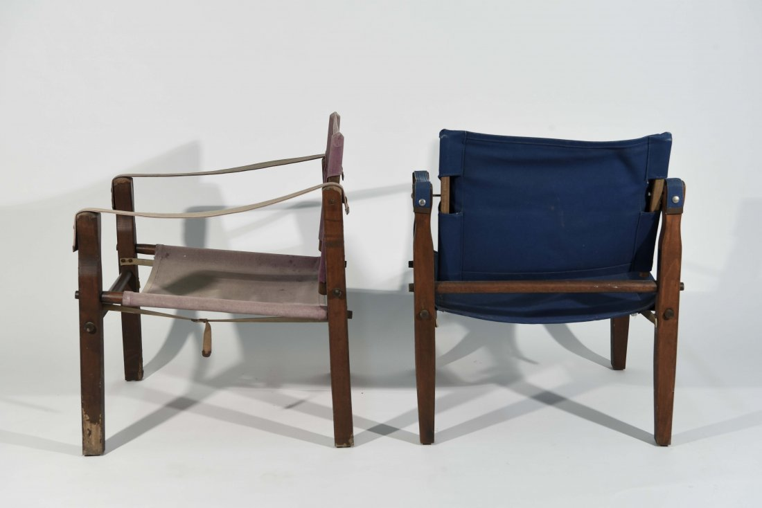 PAIR OF SAFARI STYLE CHAIRS - 6