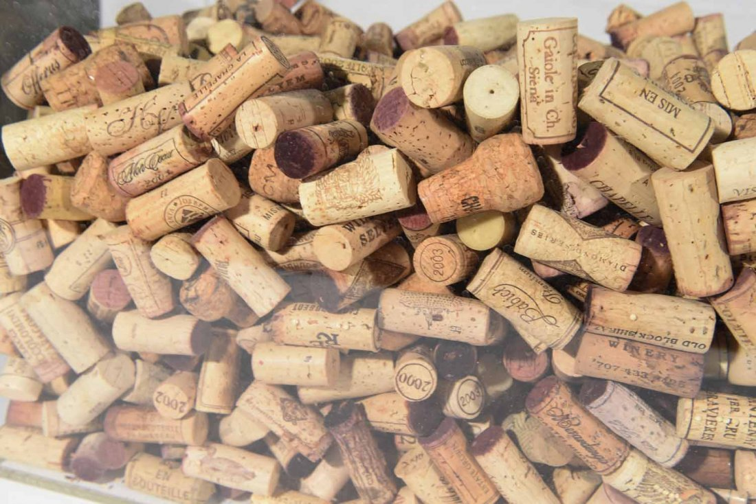 GROUPING OF WINE CORKS - 6