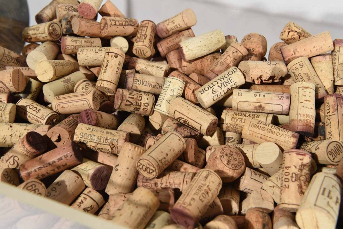 GROUPING OF WINE CORKS - 7