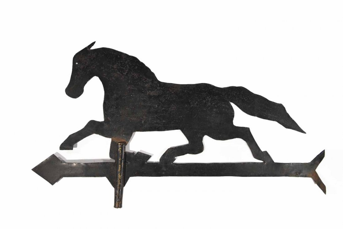 VINTAGE IRON HORSE WEATHERVANE