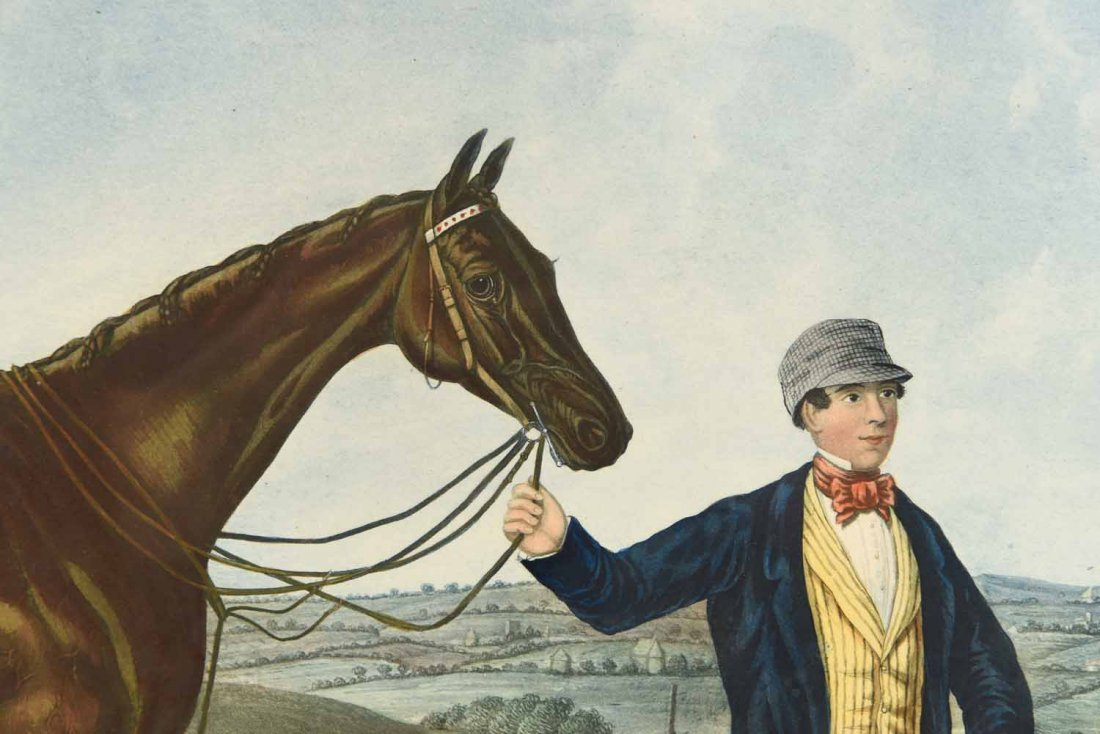 SKIRMISHER HORSE PRINT C.1850'S - 2