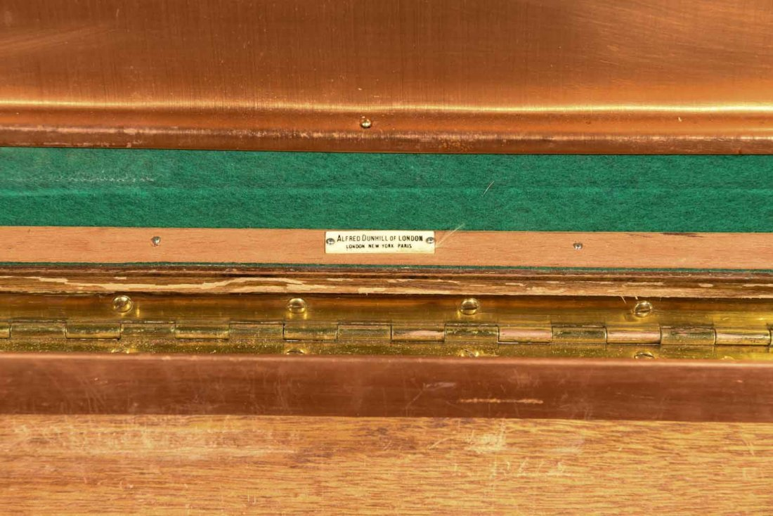 VINTAGE DUNHILL CHEST CIGAR HUMIDOR - 4