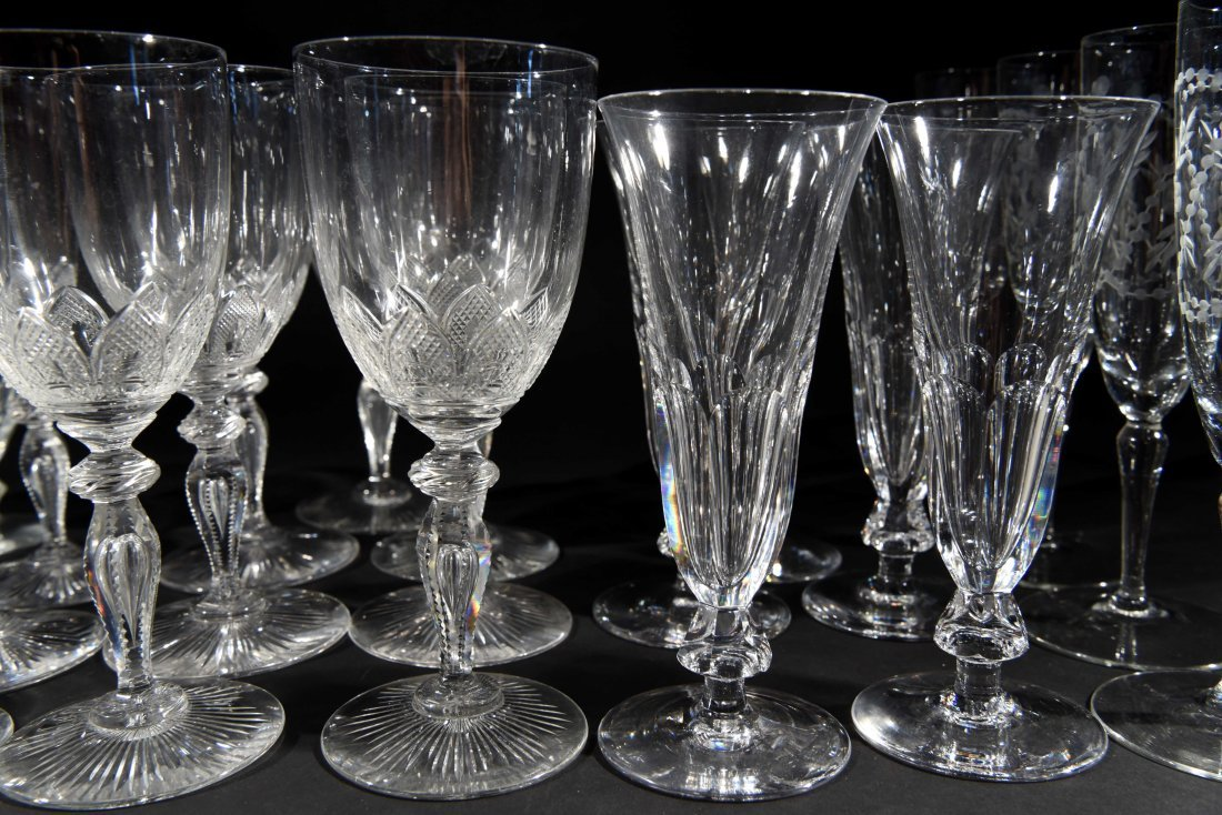 VICTORIAN CRYSTAL GLASSES - 4