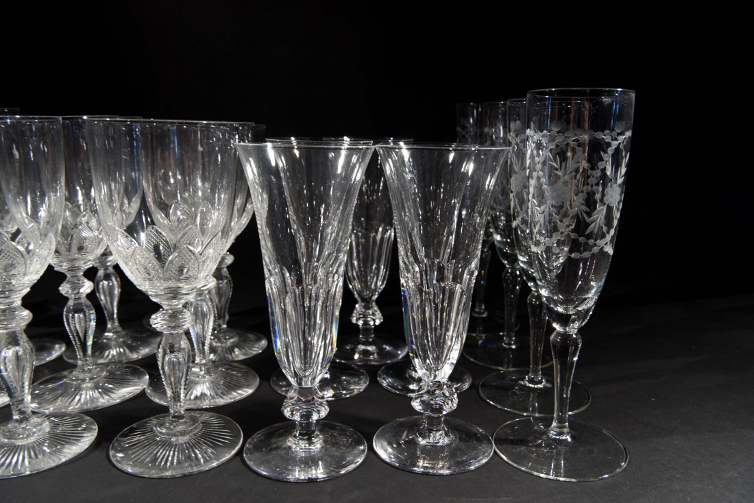 VICTORIAN CRYSTAL GLASSES - 5