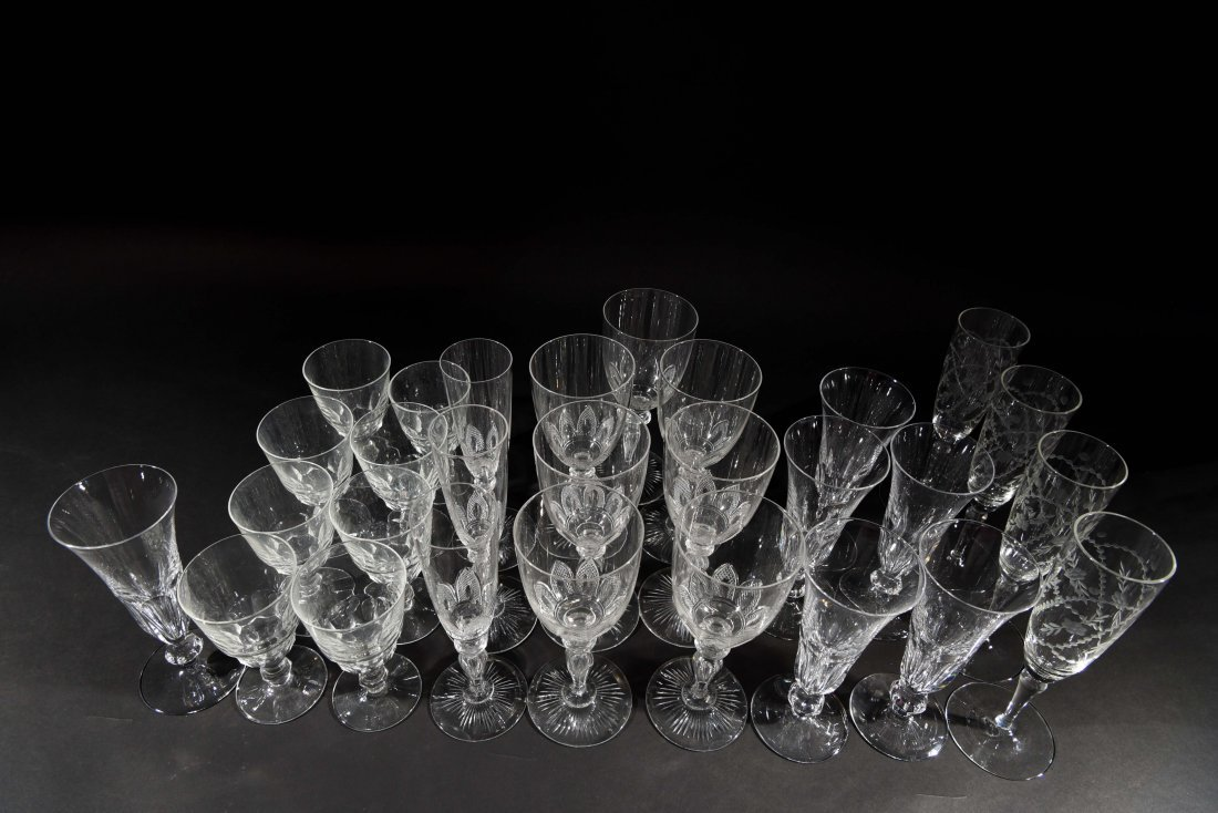 VICTORIAN CRYSTAL GLASSES - 6