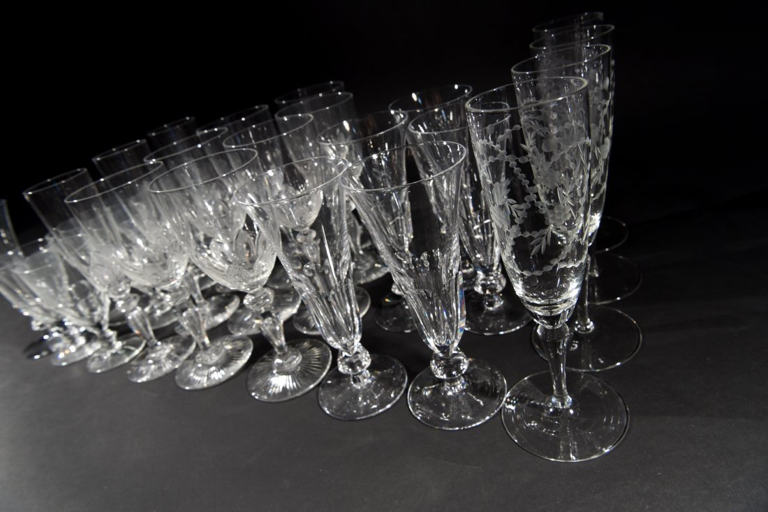 VICTORIAN CRYSTAL GLASSES - 7
