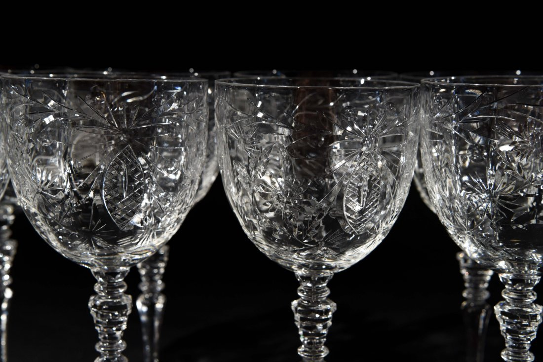AMERICAN CRYSTAL CHAMPAGNE COUPES & WATER - 2