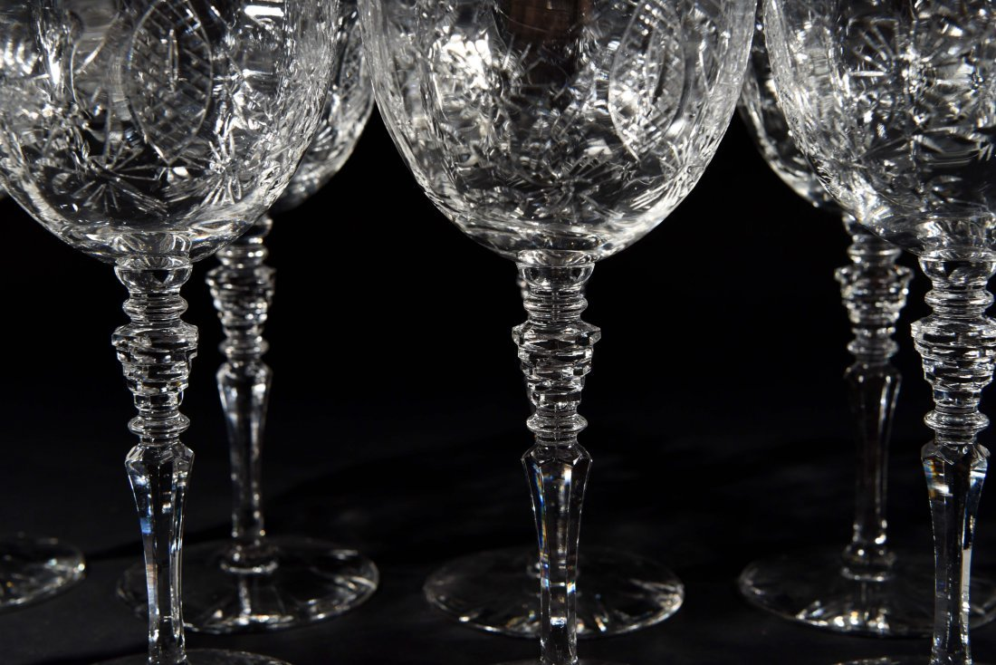 AMERICAN CRYSTAL CHAMPAGNE COUPES & WATER - 3