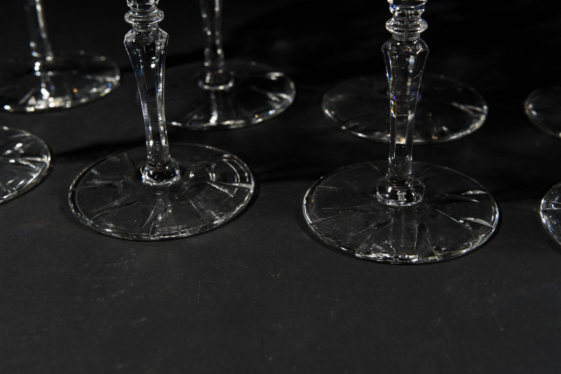 AMERICAN CRYSTAL CHAMPAGNE COUPES & WATER - 4