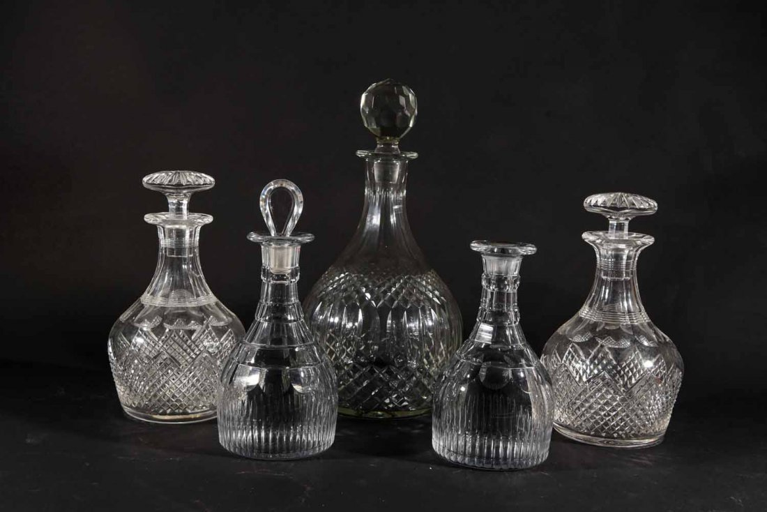 19TH CENTURY ENGLISH DECANTERS