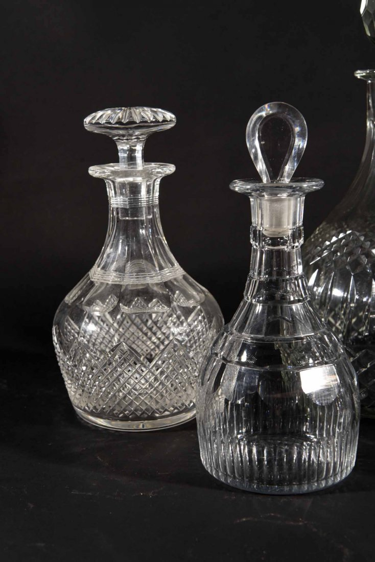 19TH CENTURY ENGLISH DECANTERS - 2