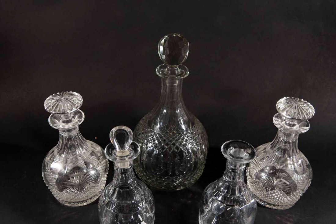 19TH CENTURY ENGLISH DECANTERS - 6
