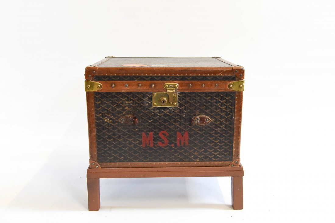 MALLES GOYARD HARD CASE TRAVEL SUITCASE