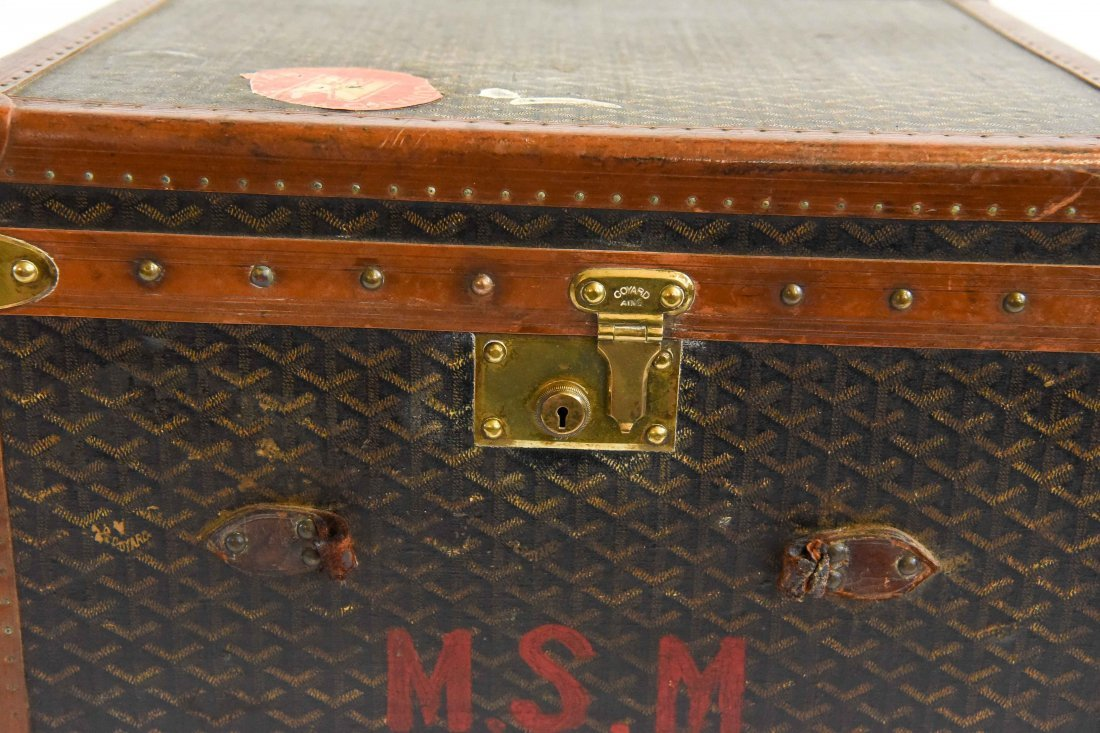 MALLES GOYARD HARD CASE TRAVEL SUITCASE - 2
