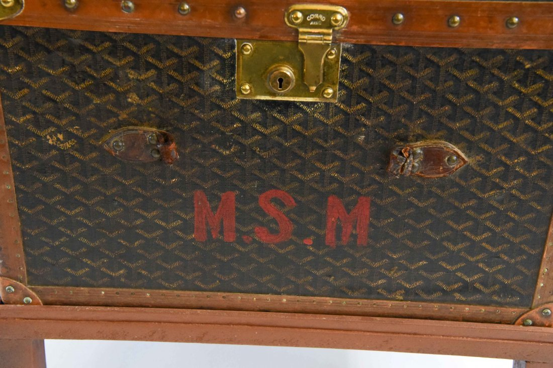 MALLES GOYARD HARD CASE TRAVEL SUITCASE - 3