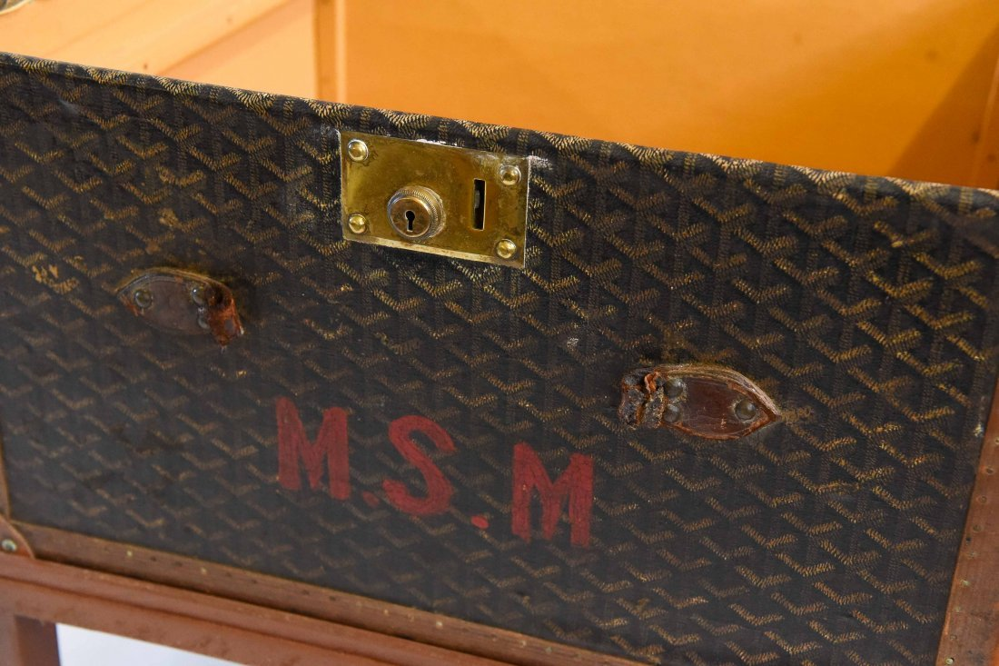 MALLES GOYARD HARD CASE TRAVEL SUITCASE - 6
