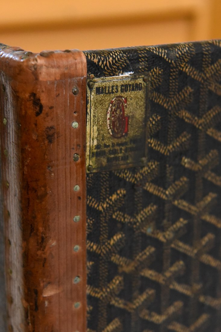 MALLES GOYARD HARD CASE TRAVEL SUITCASE - 8