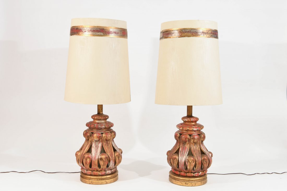 PAIR OF JAMES MONT TABLE LAMPS