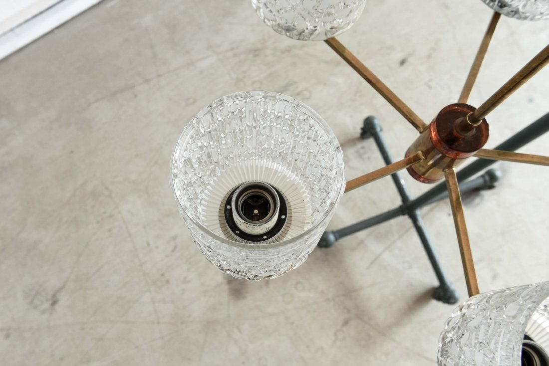CARL FAGERLUND FOR ORREFORS CHANDELIER - 6